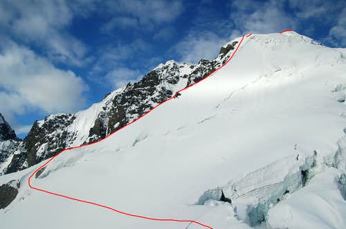 The North-east ridge