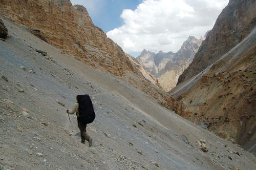 Trek back to Raminj from Ghorhil Sar\'s BC