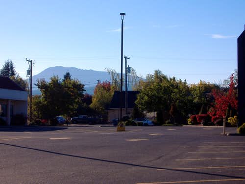 Mary\'s Peak from Philomath, OR.