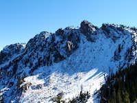 Wolf mountain's jagged summit ridge