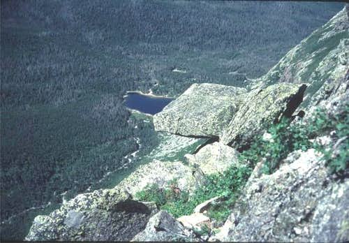 Chimney Pond from the top of...