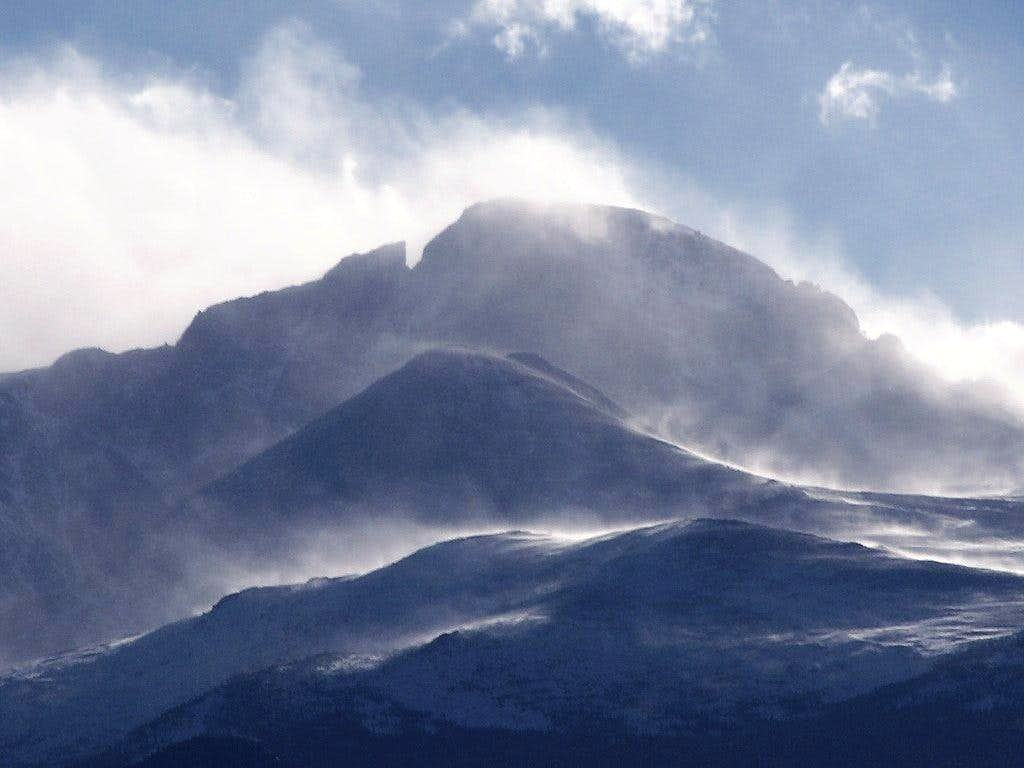 Longs Peak Winter Photos