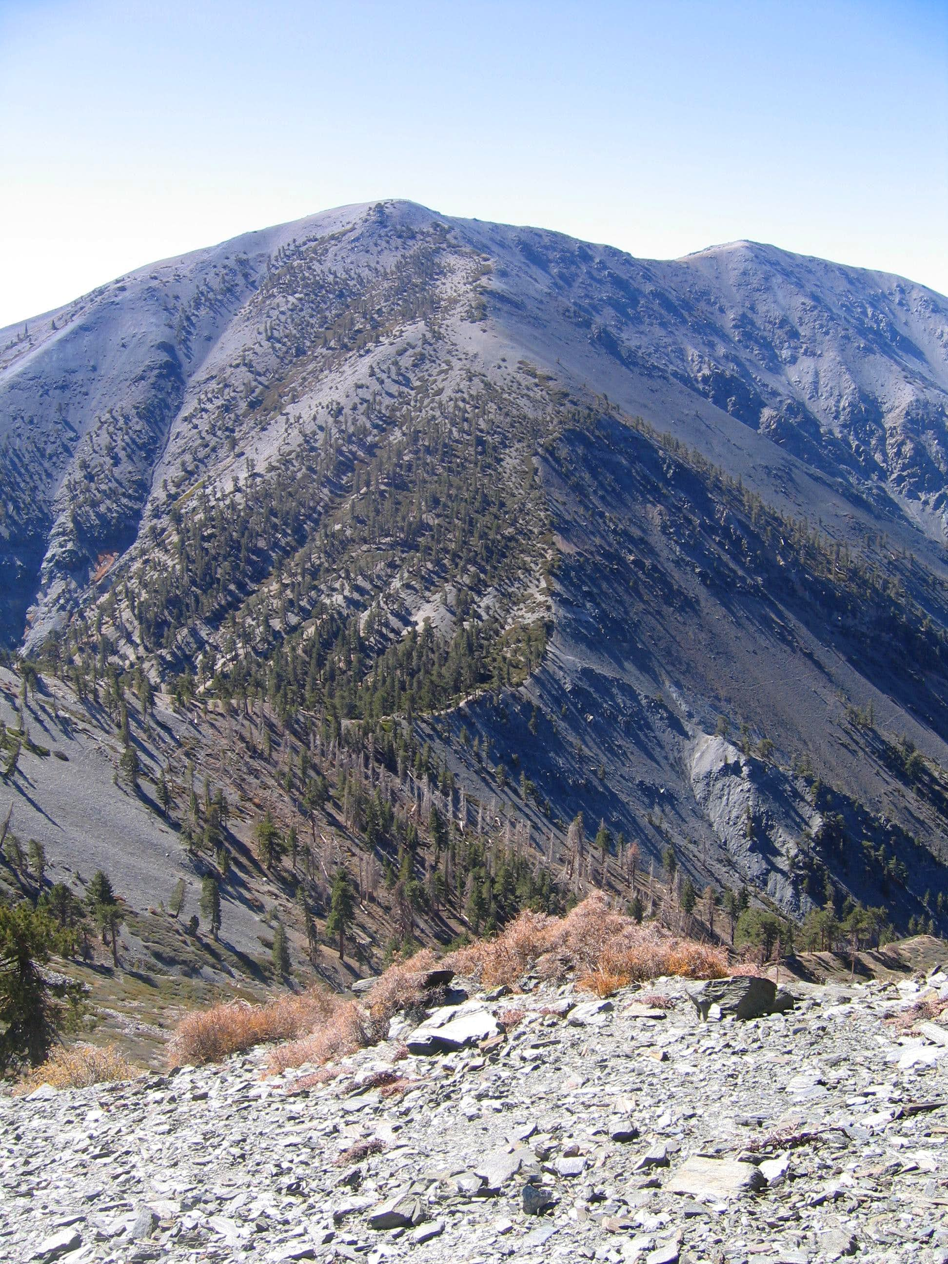Pine Mountain from Baldy Village