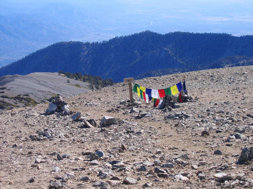 Prayer Flags on the Summit of Mount Baldy