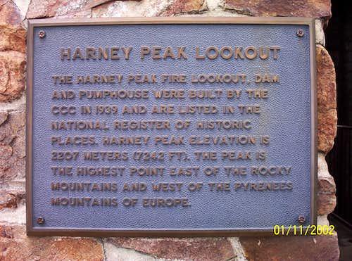 Harney Peak Sign