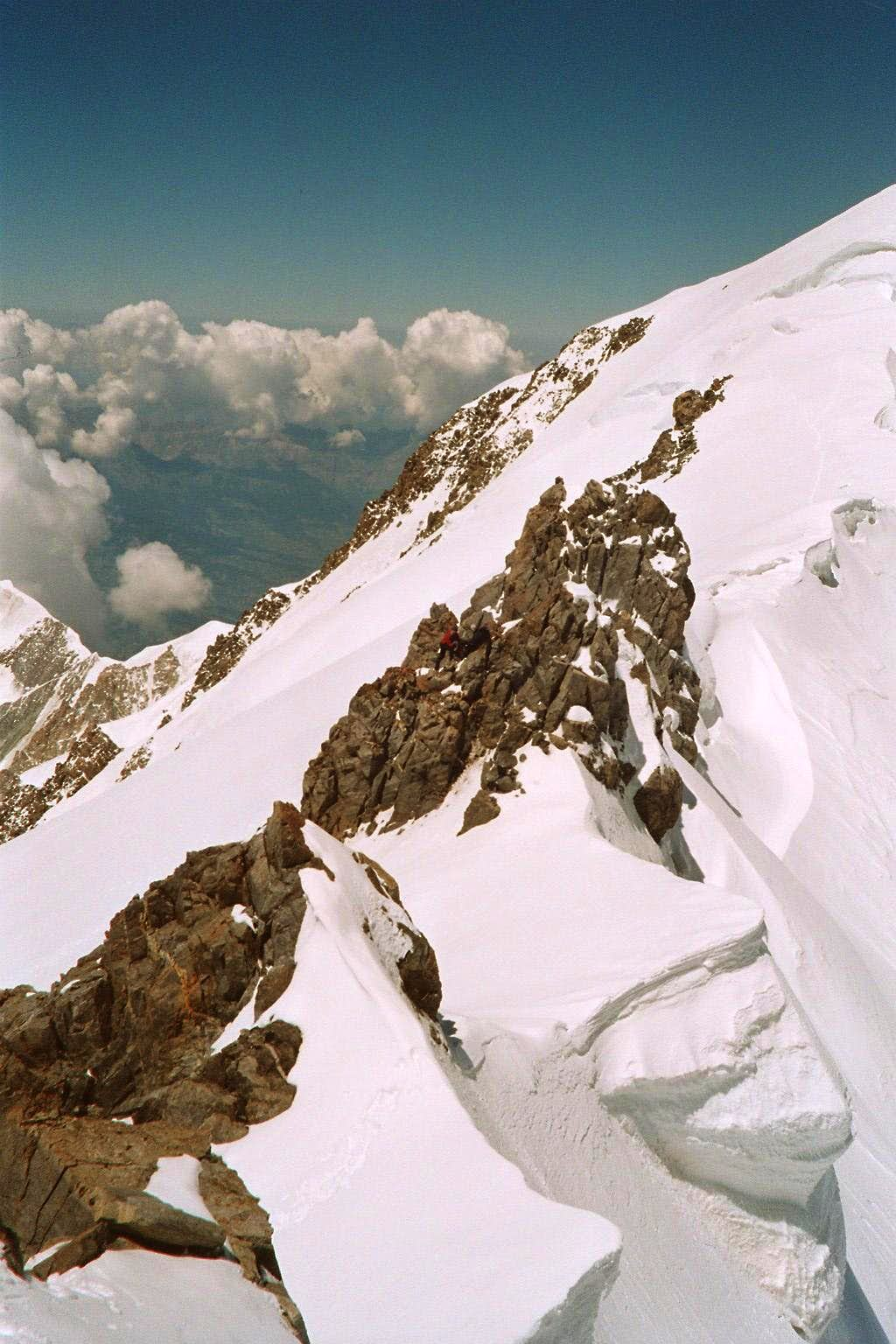 Ridge to Mont Blanc