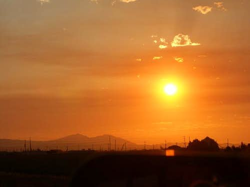 Mt. Diablo in the sunset. On...
