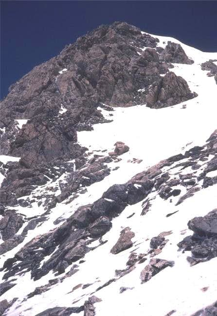 Snowy Southwest Couloir