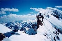 On the summit ridgeline of...