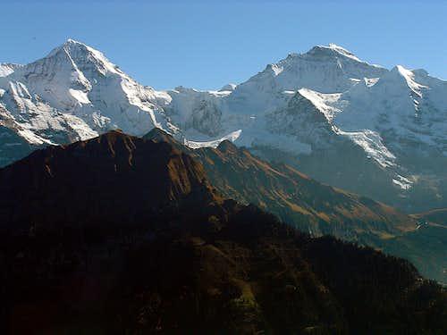 Mönch and Jungfrau from Oberberg / Schynige Platte