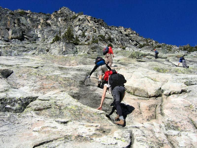 Ascending the Granite Slab area...