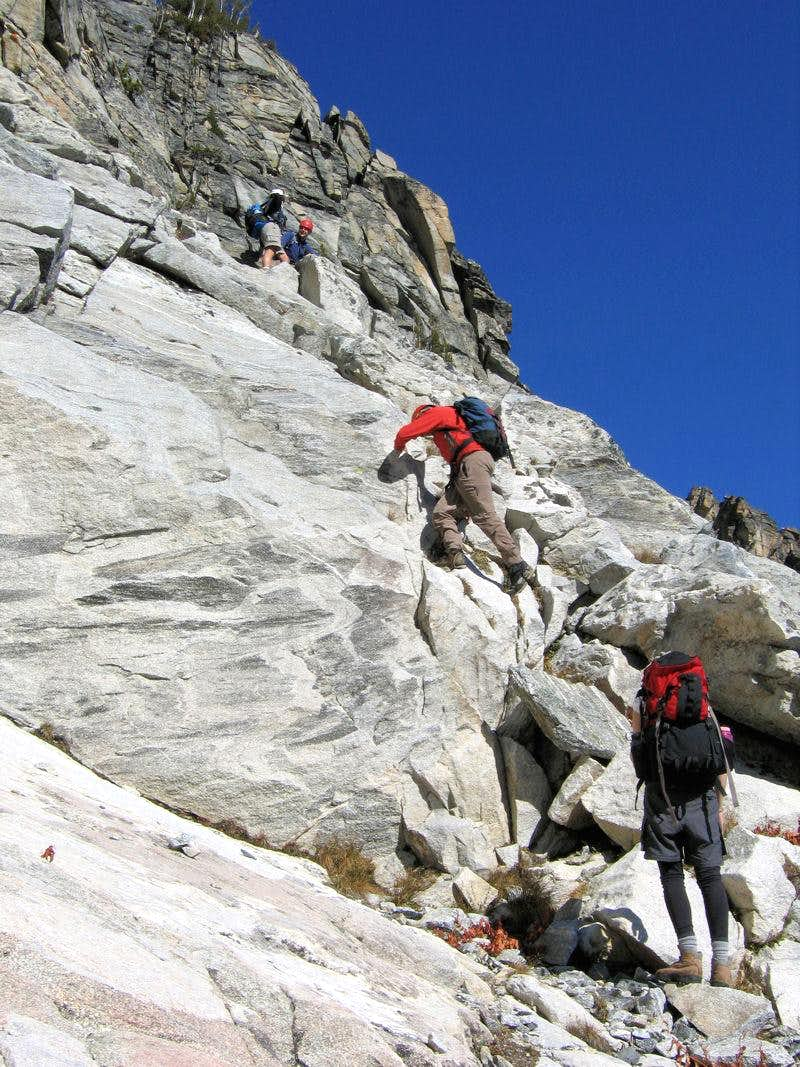 Good climbing on North Trapper!