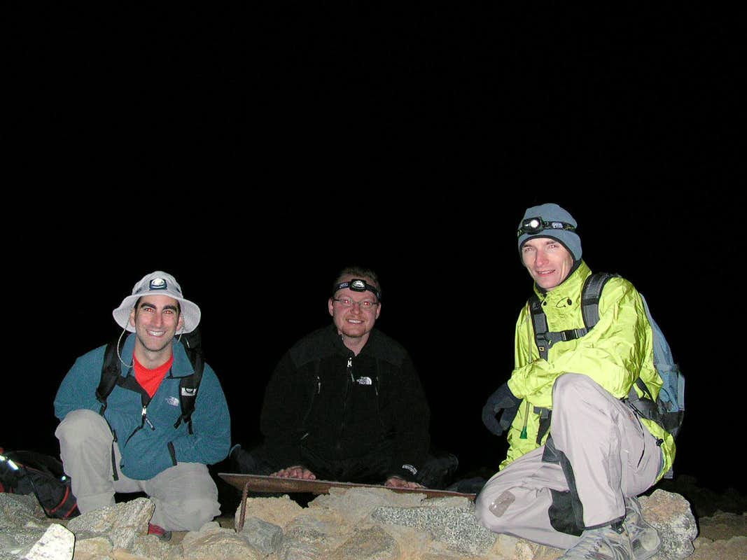 At the summit of Mt. Baldy