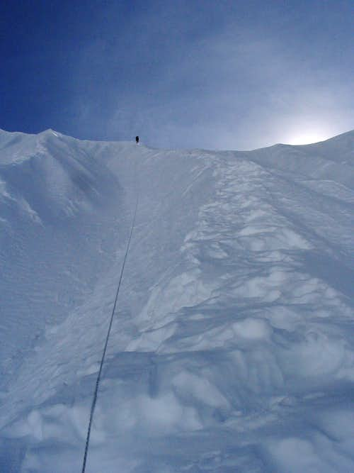 Climbing Headwall to Col Camp