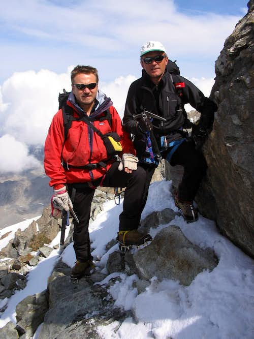 On Lagginhorn\'s top