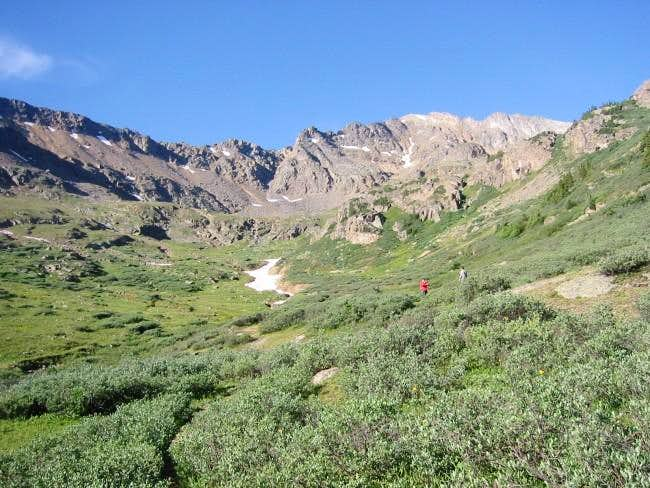 the path to Grizzly Lake