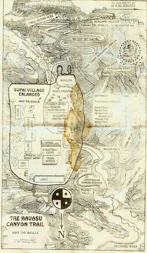 Havasu Canyon Map