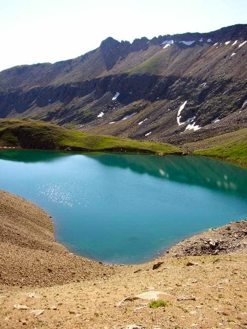 Grizzly Lake from the bottom...