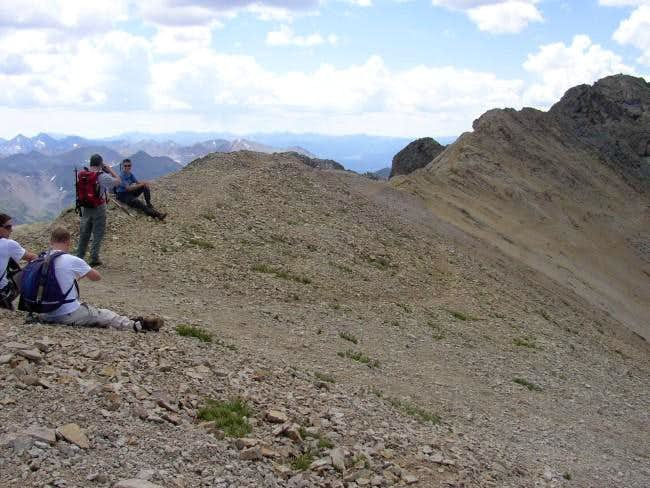 On the ridge (top of the...