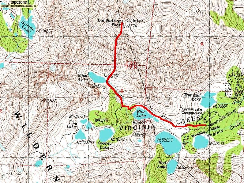 Dunderberg Peak's Southwest Slopes Route