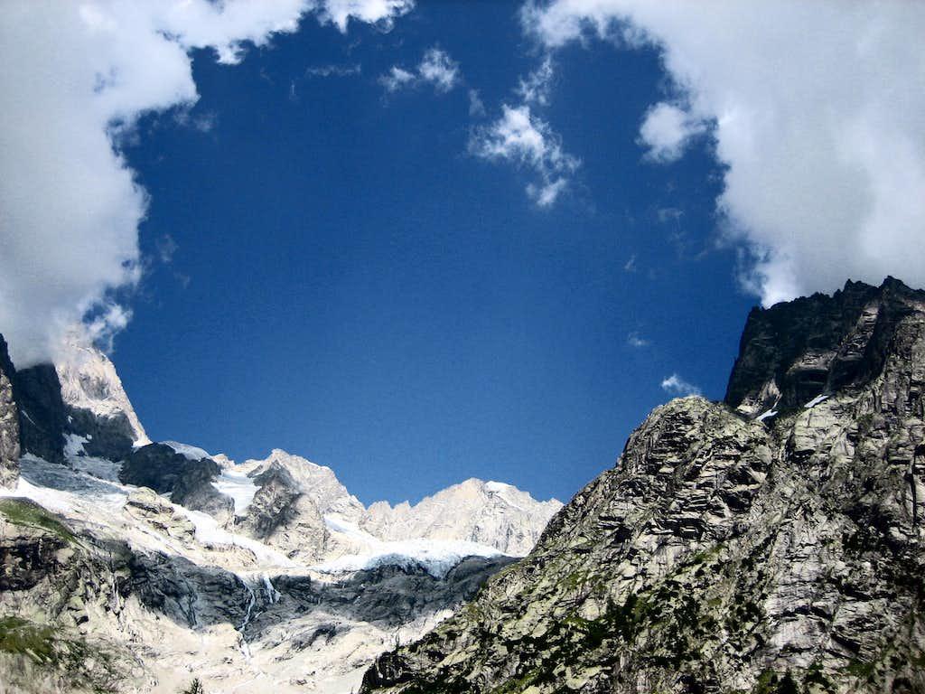 View of the Triolet Glacier