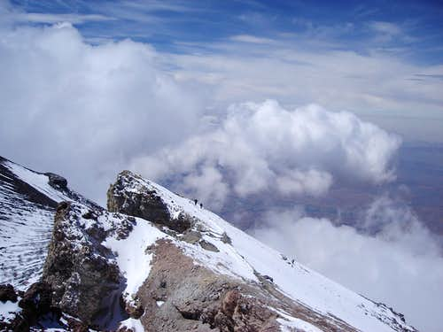 El Misti summit ridge