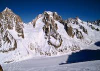 Col du Chardonnet and the Argentiere Glacier.
