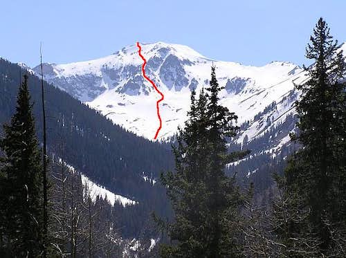 Handies Peak East Face Route