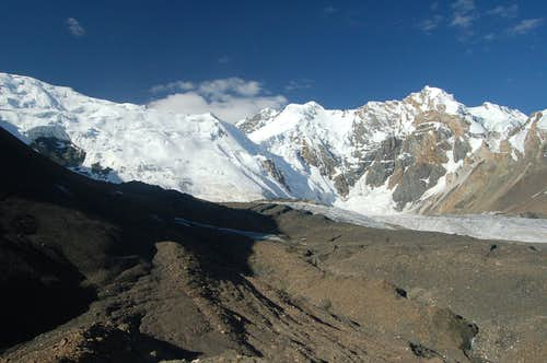 View south from our BC to Ghorhil Sar in the centre of the photo