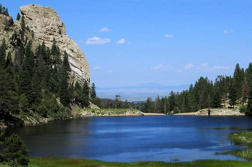 Cathedral Rock and Cimarroncito Reservoir