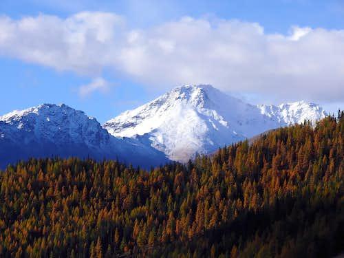 Il versante n-e del mont Fallère (3061 m.)