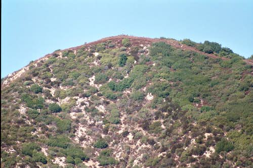 Hastings Peak (4,163\') seen from Bailey Canyon Trail