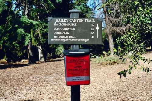 Bailey Canyon Park Trailhead, San Gabriel Mtns.