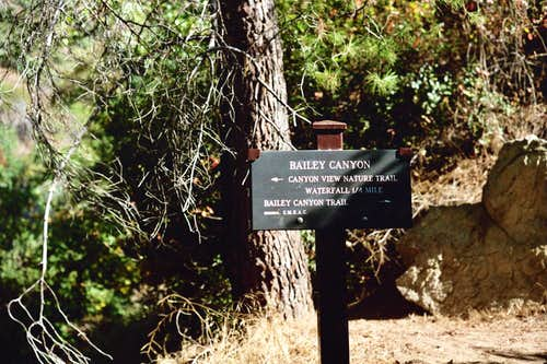 Junction to Falls on Bailey Canyon Trail