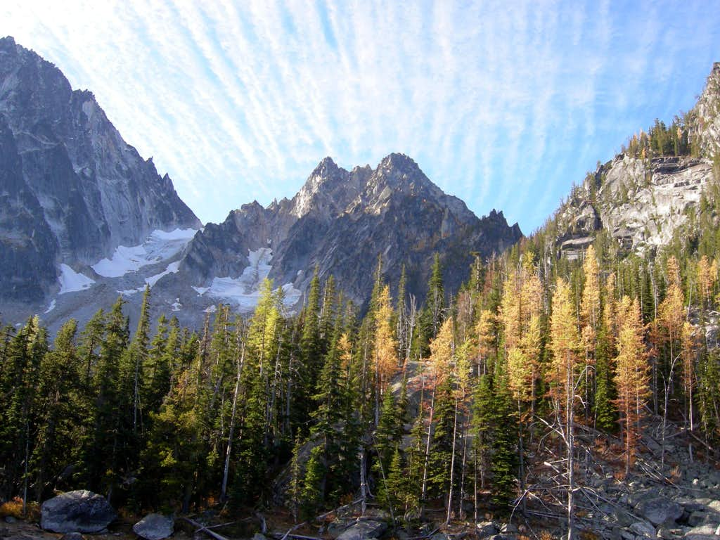 Larches and Colchuck Peak