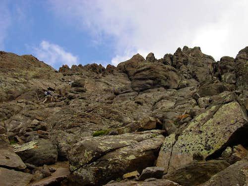 A few climbers...