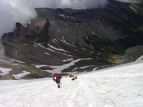 The Steeper Part of the Inter Glacier