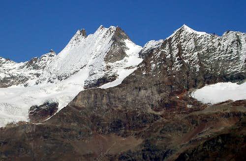 Glacier des Grandes Murailles e becca di Guin