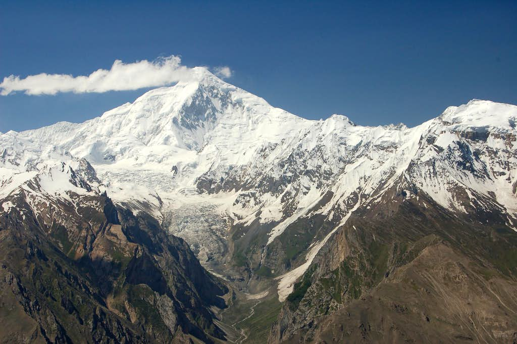 South face of Diran Peak (7257m) from Ultar Meadow