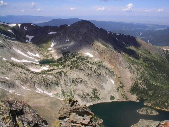 View of Lake Agnes from the...