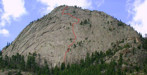 McGregor Slab Right Standard Route