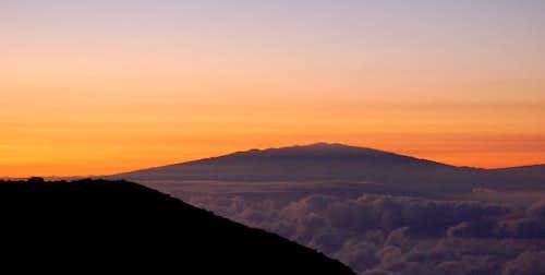 Mauna Kea from Haleakala