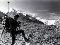 Everest from Rongbuk Glacier