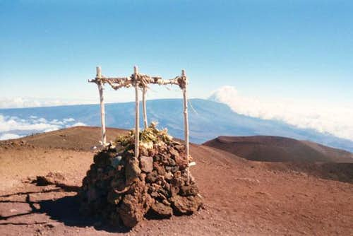 The altar on the true summit...