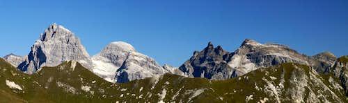 The principal summits of the Tribulaun Group