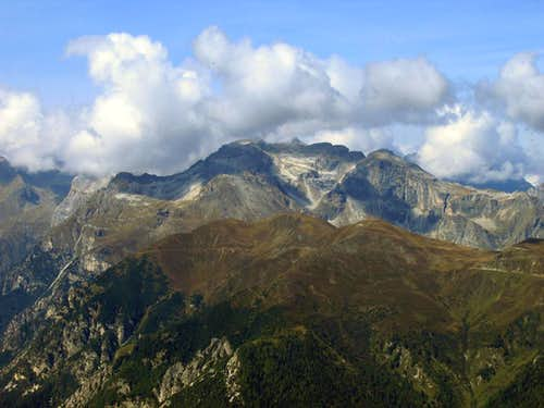 Tribulaun Group as seen from Saun