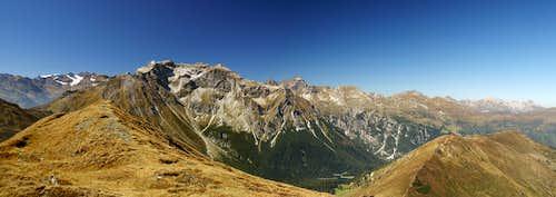 Summit Panorama Hoher Lorenzen: Stubai Alps