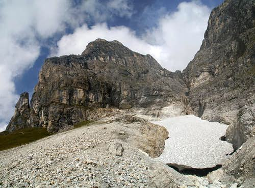 The rests of a snowfield in September