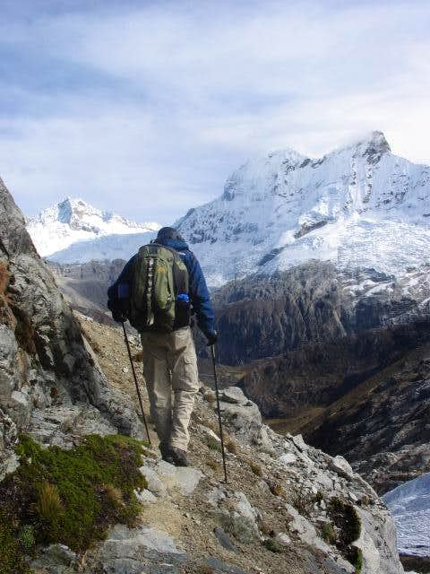The trail out of base camp