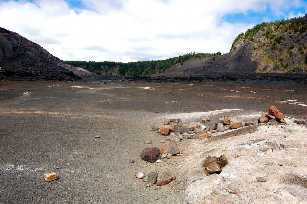 Crater floor walk